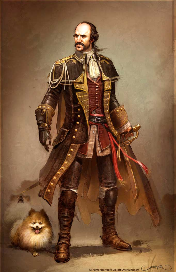 Charles Lee and His Dog